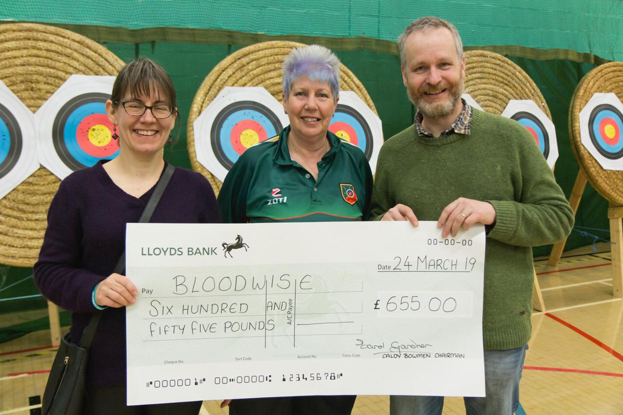 Bloodwise Cheque Presentation image 1